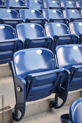 Empty stadium seats Canvas Print
