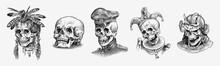 Human Skull. Dead Native Ameri...
