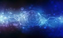 2d Illustration Of  Cloud Comp...
