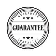 Grunge Black Guarantee Word Ro...