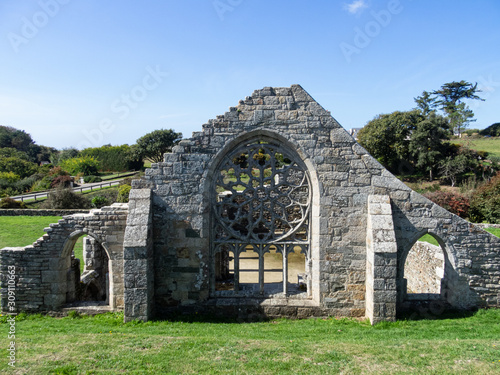 Photo Ruins of the Capel of Languidou, in Plovan, Brittany, France
