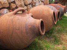 Ancient Ceramic Amphoras On Th...