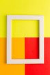 canvas print picture - white frame on a colored abstract background from paper