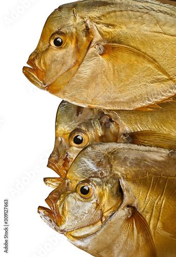 smoked fish close-up Canvas Print