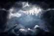 Leinwandbild Motiv Hole in the Dramatic Clouds