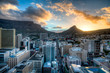 canvas print picture - dramatic sunset in Cape Town