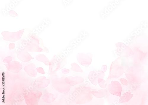 ふわふわしたピンクの花びらの背景 Adobe Stock でこのストックイラストを購入して 類似のイラストをさらに検索 Adobe Stock