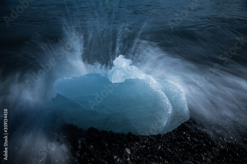 Photo Ice Washing Ashore