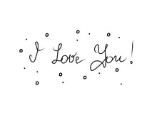 I Love You. Hand Lettering For...
