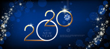 Happy New Year 2020. Golden Sh...