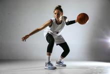 Young Caucasian Female Basketb...
