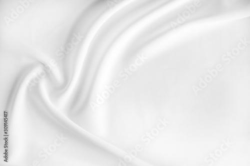white satin fabric texture background, crumpled fabric background, sorf focus Fototapet