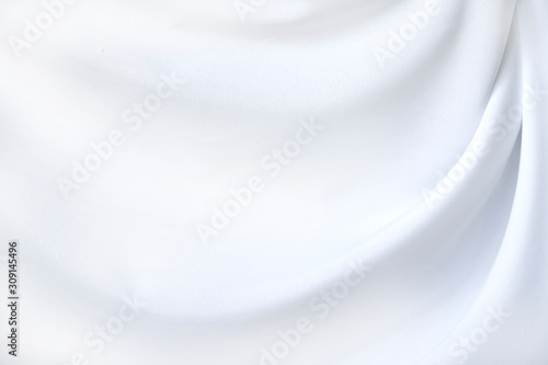 Close up of white fabric texture background ,wavy fabric
