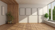 canvas print picture - Empty minimalist living room with large window