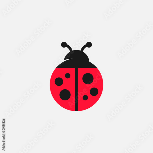 Photographie Lady bug vector icon, Lady bug logo design, cute icon, simple icon, tiny logo ic