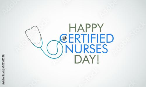 Obraz na plátně Vector illustration on the theme of Certified Nurses day on March 19th