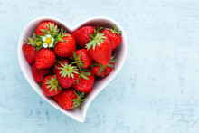 Strawberry Heart. Fresh Strawb...