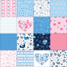 Cute Spring Patchwork Backgrou...