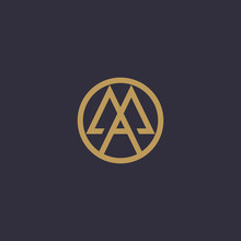 MA, AM. Monogram Of Two Letters M&A Or A&M. Luxury, Simple, Minimal And Elegant MA, AM Logo Design. Vector Illustration Template.