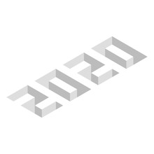 2020. Isometric Style Text Wit...
