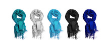 Cashmere Scarves In Winter Col...