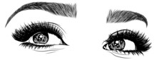 Illustration With Woman's Eyes...