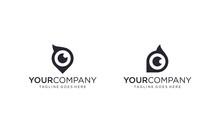 Simple And Creative Owl Eye Logo Design Vector
