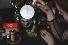 Tarot Cards And Crystal Ball, ...