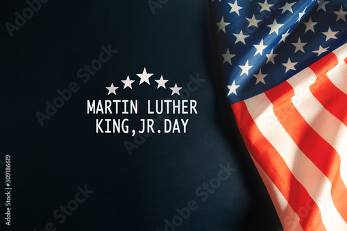 Photo Martin Luther King Day Anniversary - American flag abstract background