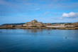 View from the see to Elizabeth Castle, Jersey