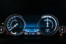 Electric Car Dashboard With Ba...
