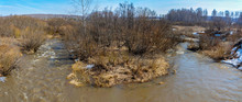Spring Flood On A Small Siberi...