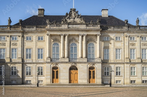 View of the entrance of The Amalienborg Palace captured in Copenhagen, Denmark Wallpaper Mural