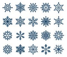 Set Of Decorative Snowflake Si...