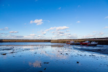 Staithes Harbour Near Whitby N...
