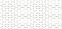 Thin Lines Seamless Pattern. Jewish Traditional Design. Abstract Black And White Vector Background With David's Star Elements.