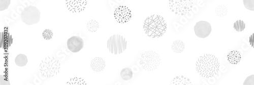 Cuadros en Lienzo 様々な円形のシームレスパターン