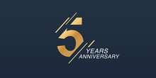 5 Years Anniversary Vector Ico...