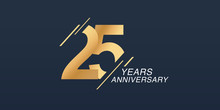 25 Years Anniversary Vector Ic...