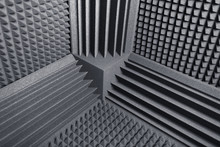 Acoustic Foam Absorber And Bass Traps For Sound Dampering Background