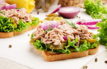 Tuna Sandwiches With Pickled C...