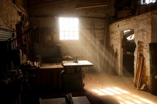An Abandoned Studio With Rusty...