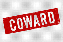 Coward Red Square Rubber Stamp