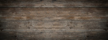 Old Brown Rustic Dark Weathered Wooden Texture - Wood Background Panorama Banner Long