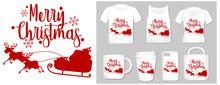 Christmas Theme With Sleigh On Product Templates