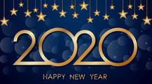 Happy New Year Background Desi...