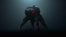 3d Illustration Of A Cyberpunk...