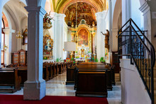 Interior Of Saint Bartholomew Parish Church In Slovenska Bistrica