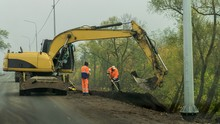 Road Construction Work With Th...
