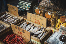 Fish And Sausages For Sale On ...